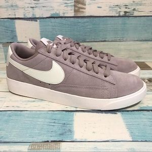 Blazer Low Sd Suede Taupe Womens Size